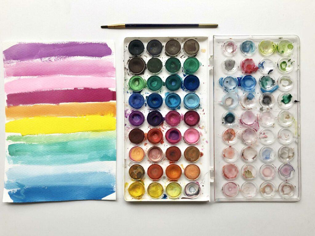Exploracion de colores, algo importante para aprender a pintar con acuarela