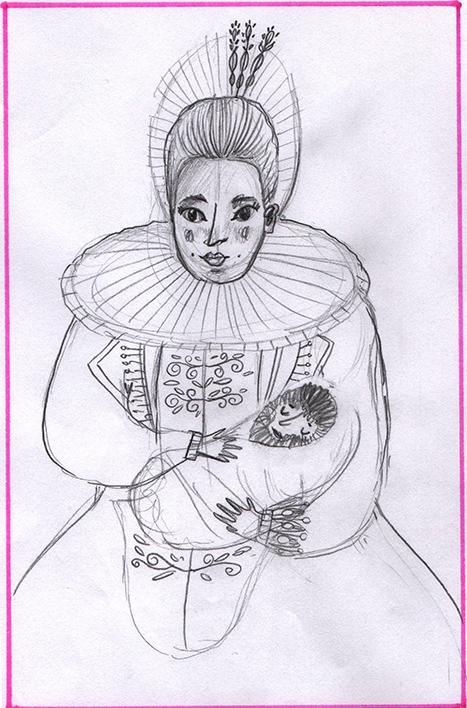 Ilustracion a lapiz por Sara Tommate