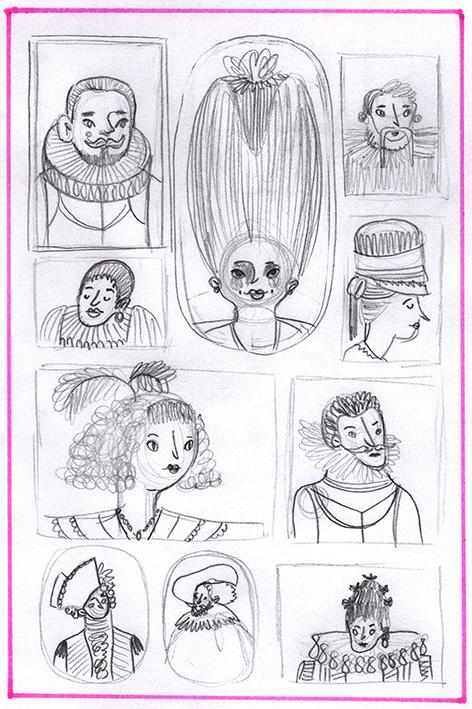 Ilustraciones a lapiz de Sara Tommate