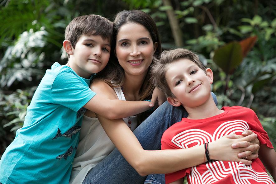 Mama con hijos grandes