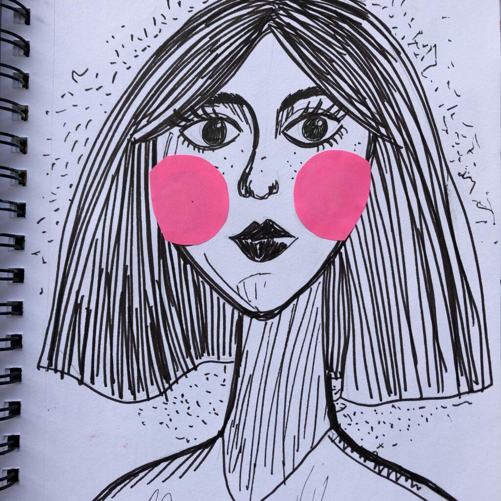 Mujer arte ilustrada