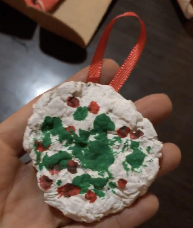decoración navidad con niños